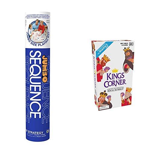 ファミリートイ・ゲーム, ボードゲーム  Jax Jumbo Sequence Game - Tube Edition with Cushioned Mat, Cards and Chips Kings in The Corner - The Traditional Gameplay of Solitaire with a Twist, for T