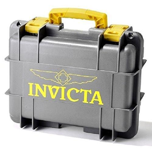 インヴィクタ インビクタ 腕時計 メンズ DC8GREY/YELLOW NEW Invicta Grey Yellow 8 Slot Impact Resistant Diver's Watch Collector Caseインヴィクタ インビクタ 腕時計 メンズ DC8GREY/YELLOW