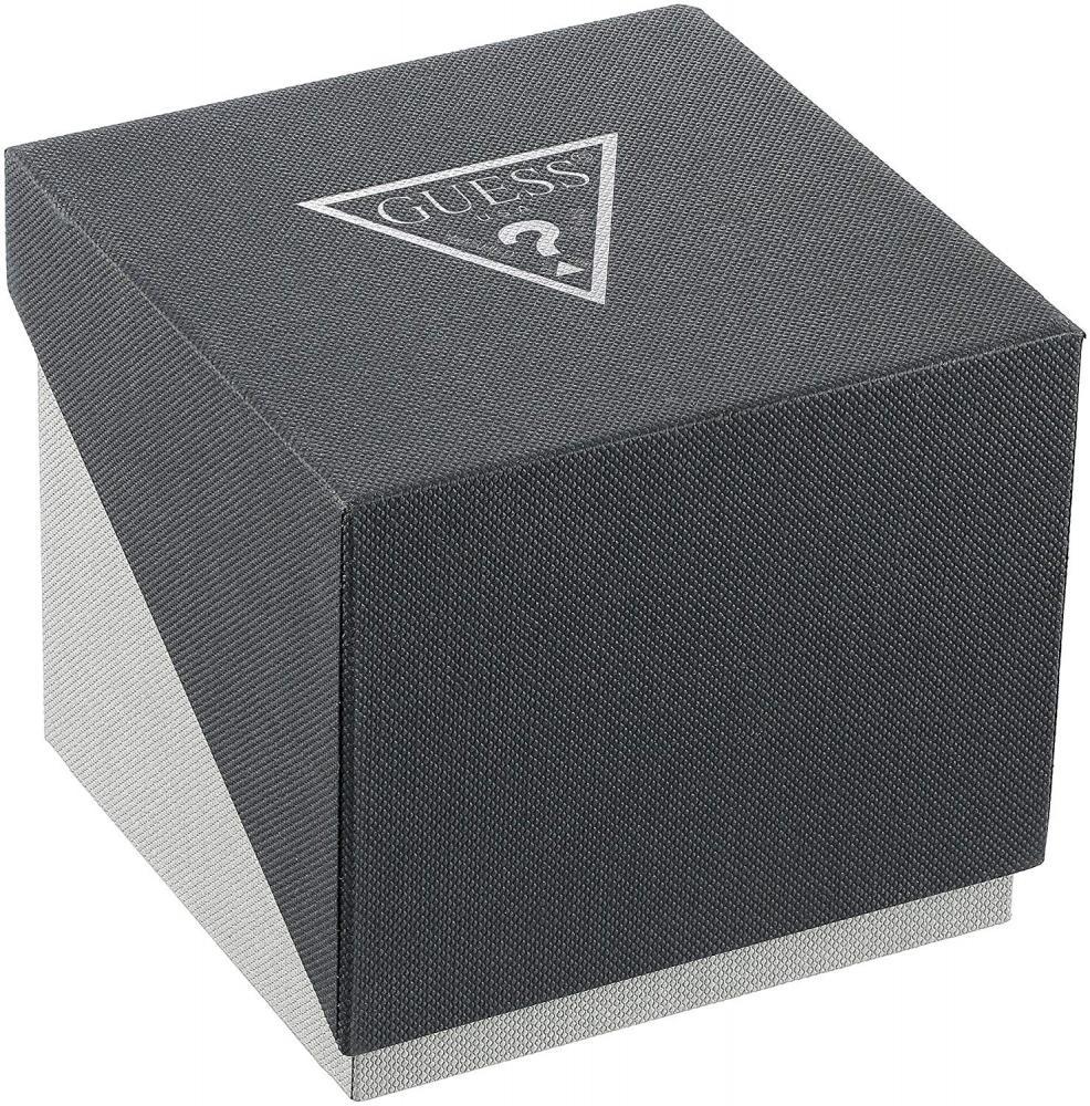 ゲス GUESS 腕時計 メンズ U0664G1 GUESS Men's U0664G1 Dressy Silver-Tone Watch with Plain Black Dial  and Genuine Leather Strap Buckleゲス GUESS 腕時計 メンズ U0664G1