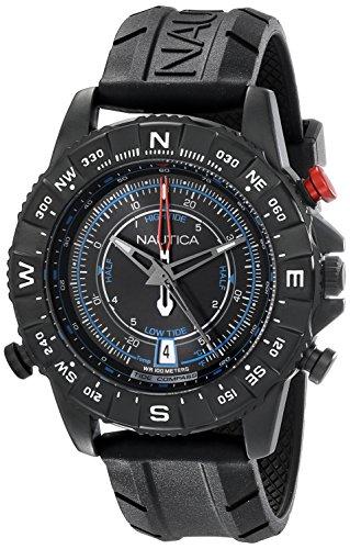 ノーティカ 腕時計 メンズ NAD21001G Nautica Men's NAD21001G NSR 103 TIDE TEMP COMPASS Watch with Black Bandノーティカ 腕時計 メンズ NAD21001G