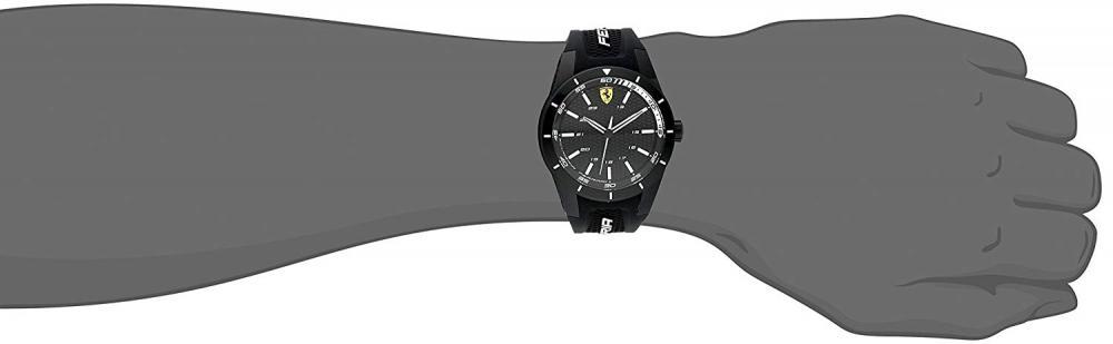 【当店1年保証】フェラーリFerrari Men's 0830249 REDREV Analog Display Japanese Quartz Black Watch