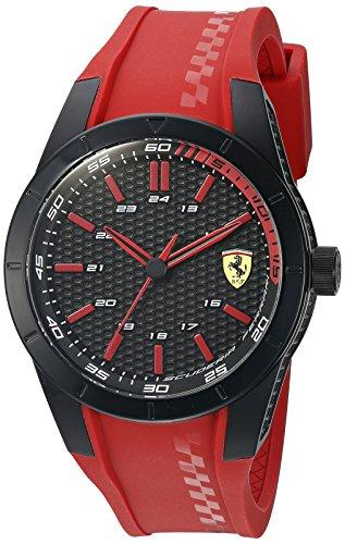 【当店1年保証】フェラーリFerrari Men's 'Redrev' Quartz Red Casual Watch (Model: 0830299)
