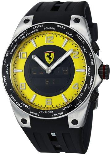 フェラーリ 腕時計 メンズ FE-05-ACC-YW Ferrari Men's FE-05-ACC-YW 45mm Black Rubber  Swiss Made Watchフェラーリ 腕時計 メンズ FE-05-ACC-YW