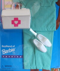 バービーBarbieKENFashionsDOCTORSURGEONwAccessories(1995EasyToDress)