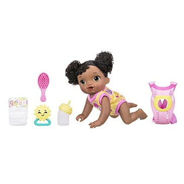 喋る・ハイハイする・オムツ替えができるお人形★ベビーアライブ ベビーゴーバイバイ アフリカンアメリカン はいはい