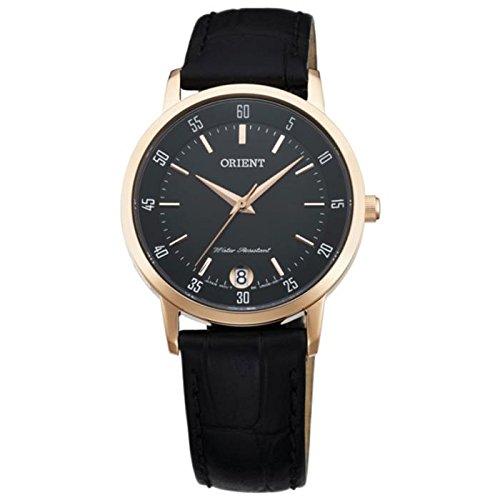 オリエント 腕時計 レディース FUNG6001B0 Orient Women's 34mm Black Leather Band Gold Plated Case Sapphire Crystal Quartz Analog Watch FUNG6001B0オリエント 腕時計 レディース FUNG6001B0