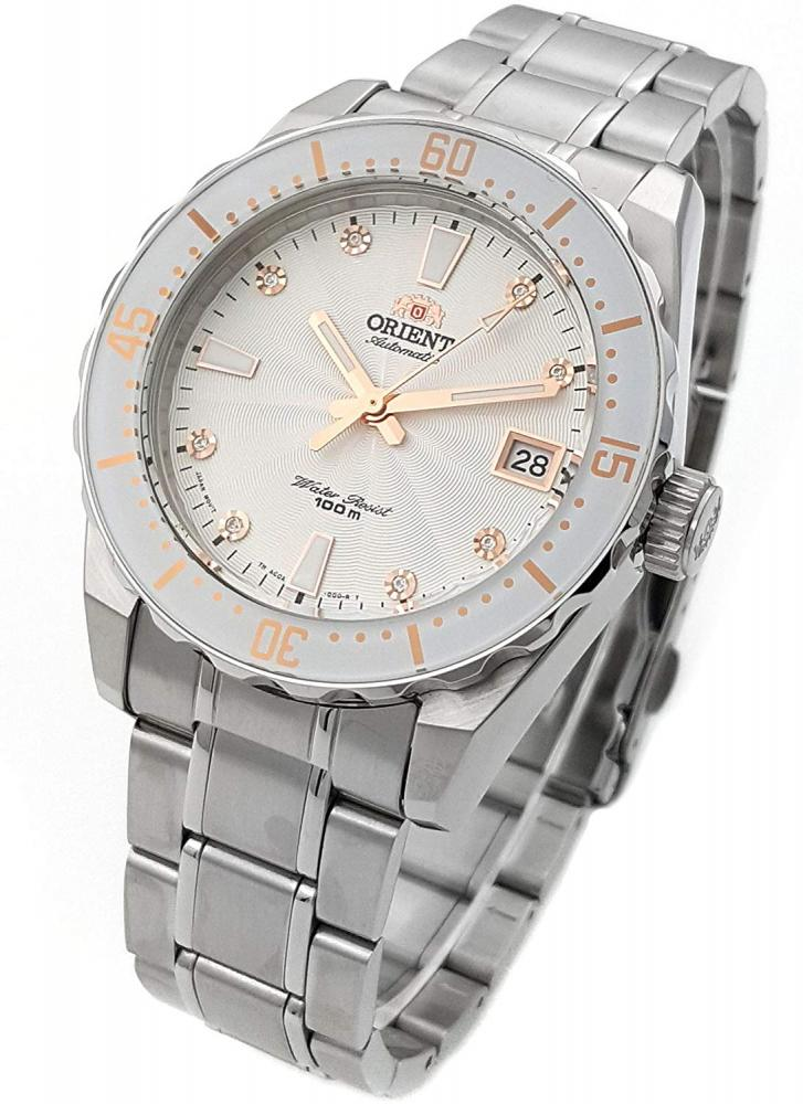 オリエント 腕時計 レディース AC0A002W ORIENT Automatic Sports 100M Superior Ladies Watch White Guilloche Dial Steel FAC0A002Wオリエント 腕時計 レディース AC0A002W