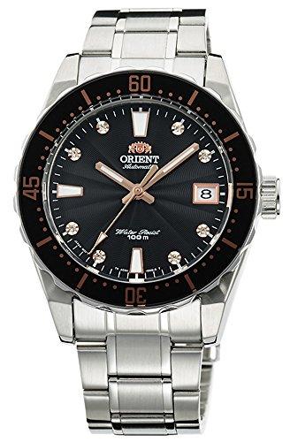 オリエント 腕時計 レディース AC0A001B ORIENT Automatic Sports 100M Superior Ladies Watch Black Guilloche Dial Steel FAC0A001Bオリエント 腕時計 レディース AC0A001B