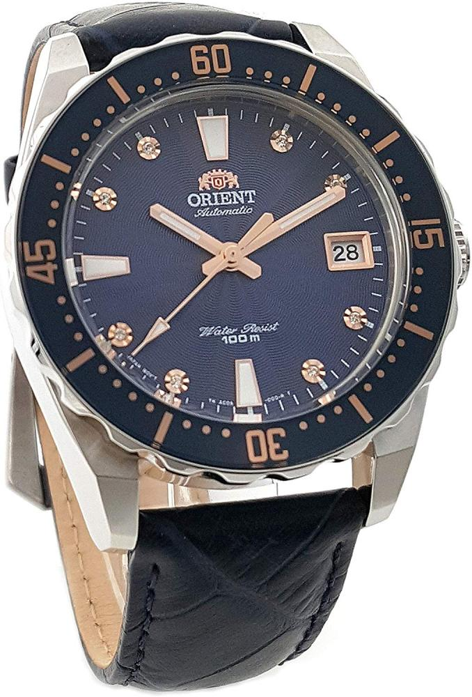 オリエント 腕時計 レディース AC0A004D ORIENT Automatic Sports 100M Superior Ladies Watch Blue Guilloche Dial FAC0A004Dオリエント 腕時計 レディース AC0A004D