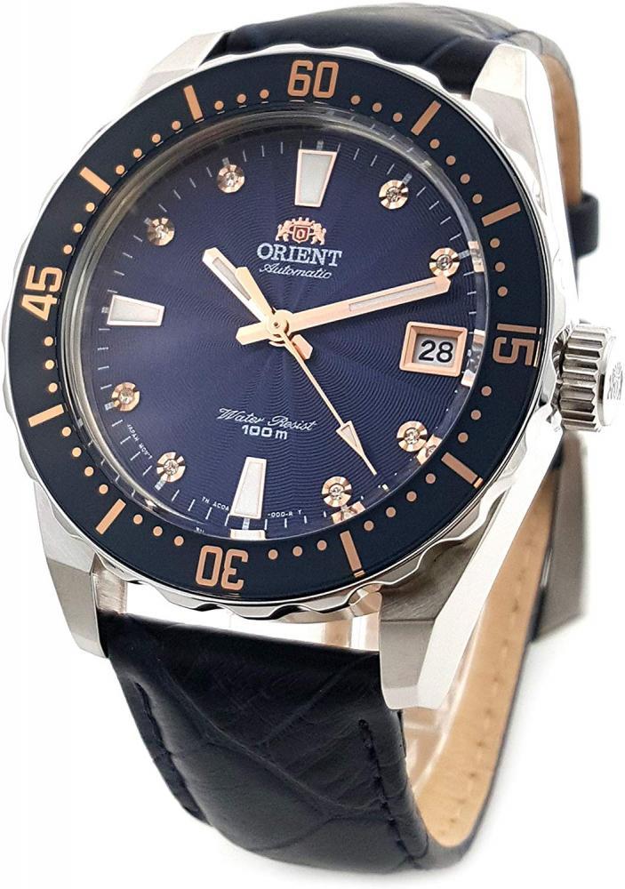 オリエント 腕時計 レディース AC0A004D ORIENT Automatic Sports 100M Superior Ladies Watch Blue Guilloche Dial FAC0A004Dオリエント 腕時計 レディース AC0A004D