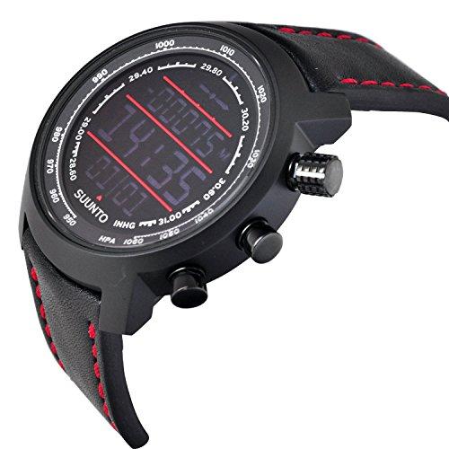 スント 腕時計 アウトドア レディース Suunto Suunto Elementum Terra Black and Red Leatherスント 腕時計 アウトドア レディース Suunto