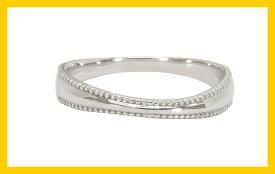 【Avanty】2本セット:マリッジリング結婚指輪:ミル打ち/K10ホワイトゴールド:K10WG