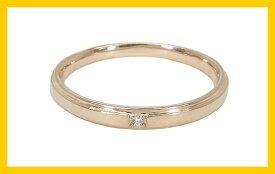 【Avanty】K10PG:1粒ダイヤリング:0.005ct/K10ピンクゴールド