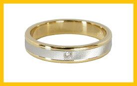 【Avanty】2本セット:プラチナ900/K18:マリッジリング結婚指輪