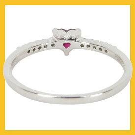 7月誕生石ハートのルビー4mmとダイヤモンド10石(0.1ct)の誕生石リングエタニティリングプラチナ900Pt900(誕生日バースデー結婚10周年結婚10年目結婚記念日プレゼント)
