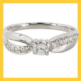 【エタニティリング】(トータル0.21カラット:1粒ダイヤ&ダイヤモンド10石)プラチナ900Pt900