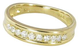 【エタニティリング】ダイヤモンド10石0.14カラット0.14ctK18イエローゴールドK18YG