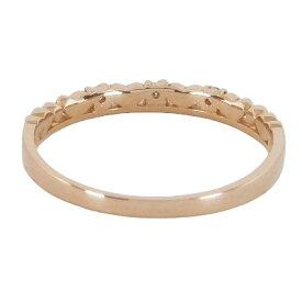 【送料無料】ハートピンキーリングピンクゴールドダイヤモンド0.03ctK10ピンクゴールドホワイトゴールドイエローゴールドK10PGK10WGK10YG10金ハートリングピンキーリング指輪ゆびわダイヤダイアモンドレディース