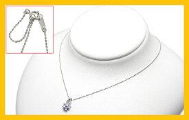 【Avanty】6月誕生石:ブルームーンストーンクローバーネックレス:ダイヤ付/K10ホワイトゴールド