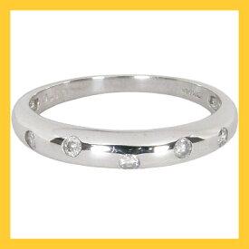 K18WG:甲丸3mm幅:ダイヤリング:0.1ct/K18ホワイトゴールド