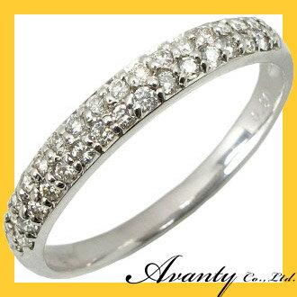 【Avanty】K18WG:パヴェダイヤリング:0.2ct:30石/K18ホワイトゴールド:ジュエリー アヴァンティ