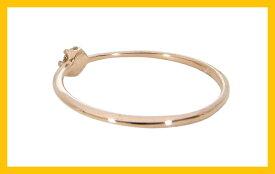 【Avanty】K10PG:1粒ダイヤリング:0.1ct:6本爪/K10ピンクゴールド