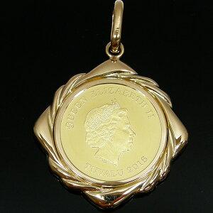 コイン 金貨 ペンダントトップ エリザベス ホース 馬 1/10オンス K24 純金 24金 ゴールド gold K18 資産 レディース 誕生日 記念日 クリスマス プレゼント