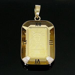 リバティ 自由の女神 コイン 金貨 ペンダントトップ K24 純金 24金 ゴールド gold K18 18金 資産 レディース 誕生日 記念日 クリスマス プレゼント