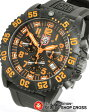 ルミノックス LUMINOX メンズ 腕時計 US Navy SEALs カラーマーク クロノグラフ 3089 オレンジ×ブラック 黒 【男性用腕時計 リストウォッチ ランキング ブランド 防水 ミリタリー スポーツ アウトドア】