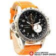 ハミルトン HAMILTON 腕時計 Khaki ETO H77612933 ブラック 黒&オレンジ革 レザー 【男性用腕時計 リストウォッチ ランキング ブランド 防水 革ベルト カラフル】