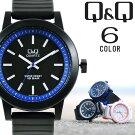 シチズンQ&Qメンズレディースユニセックス腕時計カラーウォッチ10気圧防水海外限定モデルVR10J選べる6カラー