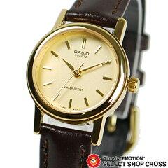 カシオ CASIO 女性 アナログ 腕時計 LTP-1095Q-9A 金/茶カシオ CASIO レディース 腕時計 アナロ...