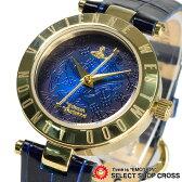 ヴィヴィアン・ウエストウッド Vivienne Westwood レディース 腕時計 アナログ オーブ レザーベルト VV092NVNV ネイビー/ゴールド 金色