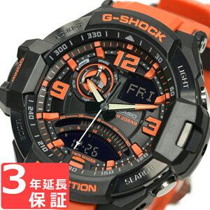 G-SHOCKCASIOカシオGショックメンズ腕時計SKYCOCKPITスカイコックピットGA-1000-4ADRブラック×オレンジ海外モデル