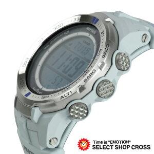 CASIOカシオPROTREKプロトレックメンズ腕時計電波ソーラーデジタルPRW-3000G-7DRホワイトブルー海外モデル