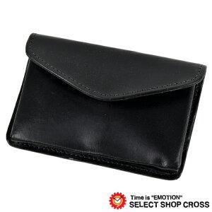 GLENROYAL Business card holder/card case BUISNES CARD HOLDER Bridle leather 03-3682 NEW BLACK Black