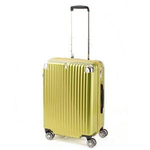 トラベリスト TRAVELIST ストリーク2 ジッパーハード 60L スーツケース キャリーケース 旅行カバン 76-20227 ライム 【代引き不可】 【直送商品】