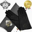 Orobianco オロビアンコ レザーグローブ レディース 手袋 ORL-1582 ブラック Sサイズ:7(20cm) 羊革 ウール BLACK