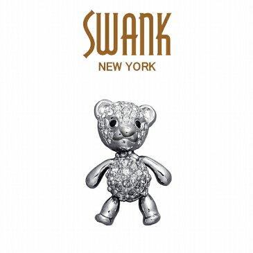 スワンク SWANK クマのピンズ(クリア) P0115