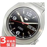 【3年保証】 セイコー SEIKO セイコー5 SEIKO 5 自動巻き メンズ 腕時計 SNKM77K1 ブラック 海外モデル