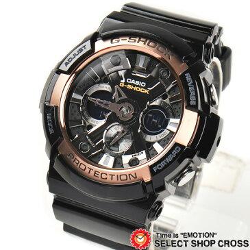 【3年保証】 カシオ CASIO G-SHOCK Gショック ジーショック メンズ 腕時計 アナデジ Rose Gold Series GA-200RG-1ADR ブラック 黒 ローズゴールド 海外モデル 【男性用腕時計 スポーツ リストウォッチ ランキング ブランド 防水 カラフル】