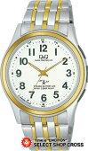 即納 シチズン Q&Q アナログ ANALOG クォーツ メンズ 腕時計 hz02-404 シルバー×ホワイト 白 【男性用腕時計 リストウォッチ ランキング ブランド 防水 ビジネス】 【あす楽】