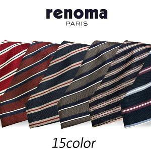 【ギフト対応】 レノマ renoma 18年秋冬モデル AW18 新作 ネクタイ メンズ シルク ストライプ プレゼント ビジネス