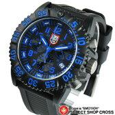 ルミノックス LUMINOX メンズ 腕時計 US Navy SEALs カラーマーク クロノグラフ 3083 ブルー×ブラック 黒 【男性用腕時計 リストウォッチ ランキング ブランド 防水 ミリタリー スポーツ アウトドア】