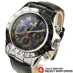MUSK 世界限定 メンズ腕時計 リストウォッチ MM-2220-11G 黒×金 黒ベルトMUSK ムスク 世界限定...