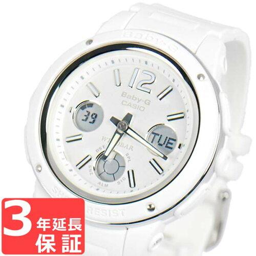 腕時計 Baby-G ベビーG カシオ CASIO レディース アナログ アナデジ BGA-150-7BDR ホワイト 白 ...