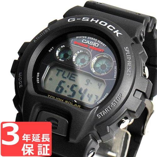 カシオ CASIO G-SHOCK Gショック ジーショック 腕時計 メンズ ソーラー G-6900-1DR ブラック 黒 【...