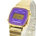 カシオ CASIO レディース 腕時計 デジタル表示 LA670WGA-6DF ゴールド×パープル 【女性用腕時計 スポーツ リストウォッチ ランキング ブランド かわいい カラフル】【キッズ】 チープカシオ 【あす楽】
