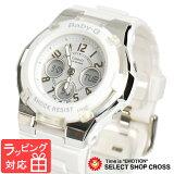 【無料ギフトバッグ付き】 【名入れ対応】 【3年保証】 カシオ 腕時計 CASIO BGA-110-7B ベビーG BABY-G ベビーG レディース キッズ 子供 海外モデル BGA-110-7BDR ホワイト カシオ 腕時計 【あす楽】