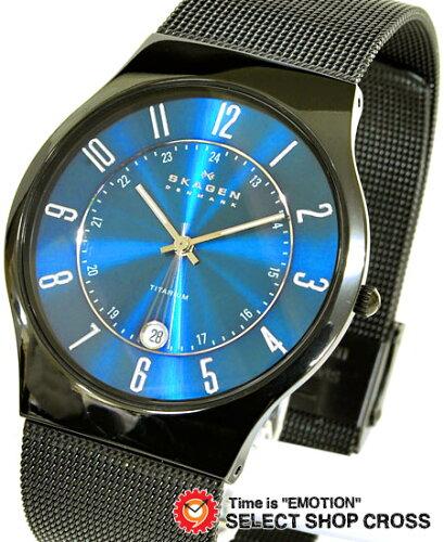スカーゲン SKAGEN メンズ 腕時計 チタニウム メッシュベルト T233XLTMN ブルー 【男性用腕時計 リ...